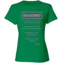 Seasoned Woman Tee Green/Pink