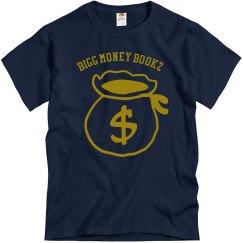 Bigg money Bookz design 3 jnavy shirt