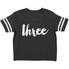 I'm Three Birthday Shirt