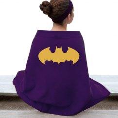 Purple batgirl blanket.