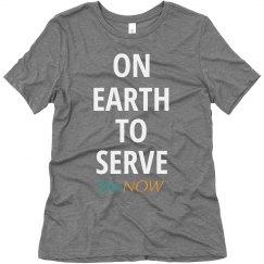SheNOW #SERVICE Tee