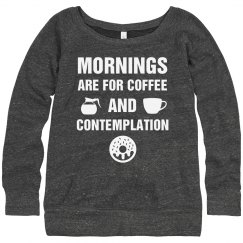 Coffee And Contemplation Slouchy Sweater