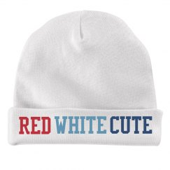 Red, White & Cute Baby Hat