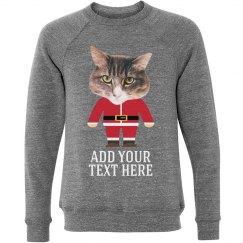 Funny Santa cat Sweater