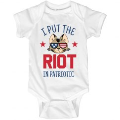 Baby's 4th Of July Riot In Patriotic