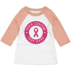Custom Breast Cancer Charity Toddler Raglan