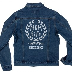 Custom Mom Life Denim Jacket