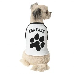 Design Your Own Dog 3/4 Sleeve Raglan Tee