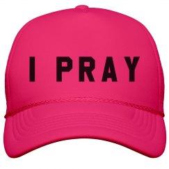 Trendy I Pray Summer Cap