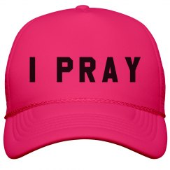 Trendy I Pray Summer Cap