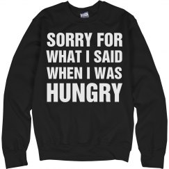 Sorry for Hungry Talk