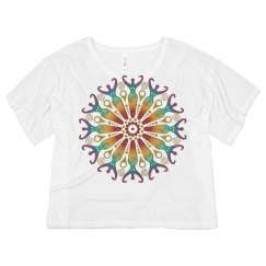 Colored Mandala Circle Of Fertility Goddess