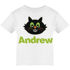Scary Whimsical Personalized Cat Tee