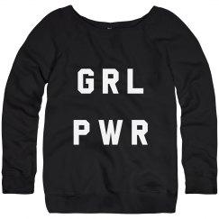 GRL PWR Slouchy Sweatshirt