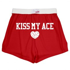 Cute Kiss My Volleyball Ace Soffe Shorts