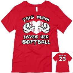 This Softball Mom Shirt With Custom Name Number