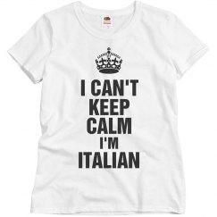 I'm Italian
