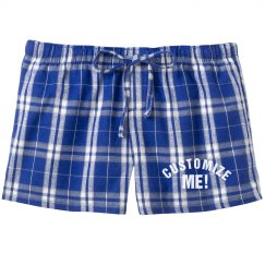 Customize Flannel Pajama Shorts