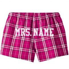 Custom Mrs. Newlywed Shorts