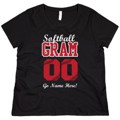 Custom Number Softball Gram