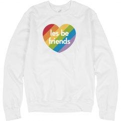 Lesbian Friends Rainbow Heart