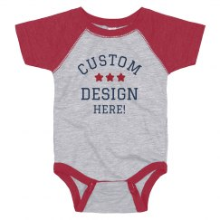 Custom 4th of July Baby Infant Bodysuit
