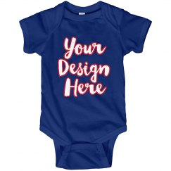 Red, White, & Blue Custom Baby Outfit