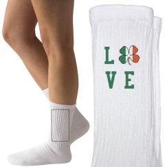 Love Irish St. Patrick's Day Socks