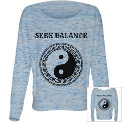 Yin Yang Seek Balance long sleeve tee