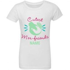 Custom Name Green Mer-Friends Top