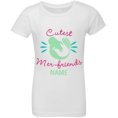 Custom Name Green Mer-Friends Top