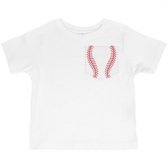 Baseball Faux Pocket Tee for Toddlers