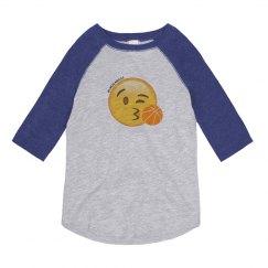 KIDS: Emoji Basketball 3/4 Sleeve