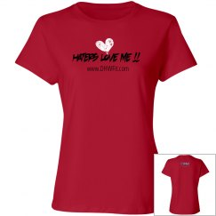 Haters Love Me tee in Red