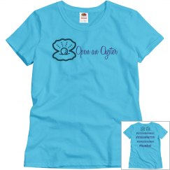 Open An Oyster TShirt - BLUE