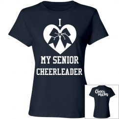 Senior cheerleader cheer mom t-shirt
