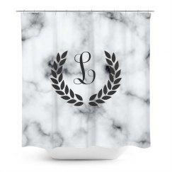 Custom Initial Marble Print
