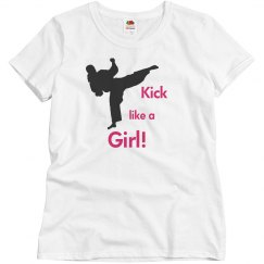 Kick like a girl Tee