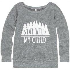 Stay Wild Slouchy Sweater