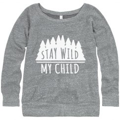 Stay Wild Slouchy Sweater