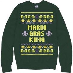 Mardi Gras King Ugly Sweater