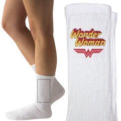 Vintage Wonder Woman Parody Socks