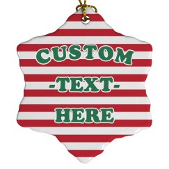 Holiday Candy Cane Custom Decor