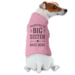 Baby Announcement Dog Big Sister
