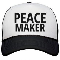 peace maker trucker hat