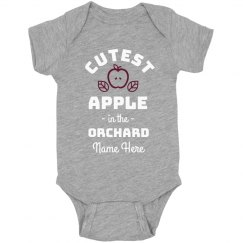 Cutest Apple in the Orchard Onesie