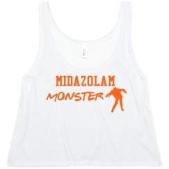 Women's Crop- Midazolam Monster
