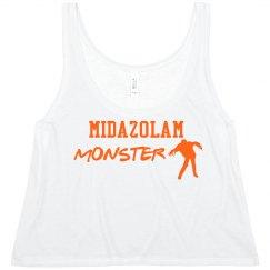 Women's Crop- Midazolam Monster