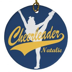 Christmas Cheer Gift Ornament With Custom Name