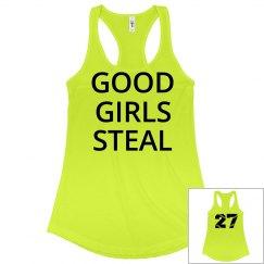 Softball Girls Steal